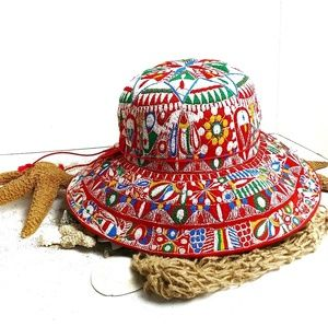 Authentic Peru Boho Embroidered Colorful Hat
